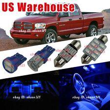14x Pure Blue Light Interior LED Package Kit For 02-11 Dodge Ram 1500 2500 3500