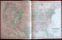 Unite States 1879 Gray large detailed map