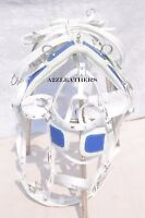 NYLON DRIVING HARNESS FOR SINGLE HORSE IN WHITE/BLUE COLOR WITH DESIGNER BRIDLE