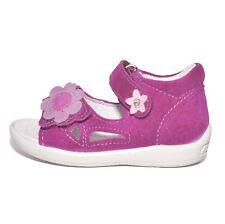 Ricosta Girls Shugie Violet Suede Sandals UK 3 EU 19 US 3.5 Medium