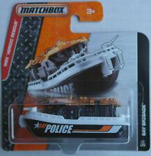 Matchbox Bay Brigade schwarz/weiß/orange POLICE Neu/OVP Boot Schiff Polizei MBX