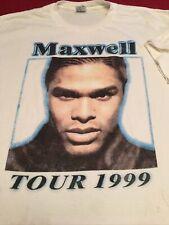 Mawelll Vintage 1999🍷T-Shirt Hip Hop/R&B Delta Tee🎹XL White🎼Rare