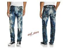 NWT PRPS Goods JAPAN Barracuda Straight Men Jeans 36 x 32 Patchwork Pixel  $425