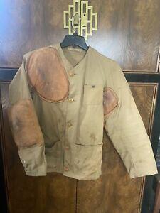 Vintage Hunting Shooting Jacket 10-X Mfg Co Sport Coat Brown Sportsman 1950s 38