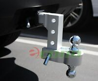 "Aluminum 6"" Drop Adjustable Tow w/Dual Hitch Ball 2"",2-5/16"" FitTrailer Receiver"