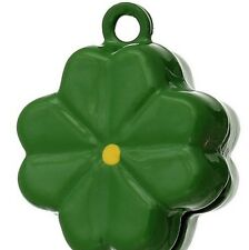 Dog collar bell charm tag / is your dog a lucky mascot / four leaf clover bell