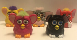 Furby's McDonald's Happy Meal Pull Back Toys Plastic Lot of 5 From 1998 -Vintage