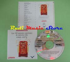 CD 100 CANCIONES NUESTRA VIDA 1963-1973 VOL 10 compilation PROMO 1993 (C28)