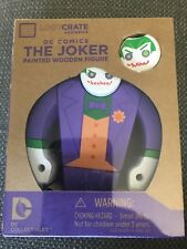 New The Joker Painted Wooden Figure DC Comics Loot Crate Exclusive 2015 (2)