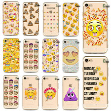 Very Funny Emoji Clear Silicone TPU Case Cover For Apple iPhone 5 6 6S 7 Plus 23