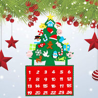 Christmas Tree Advent Calendar Panels Kit Felt Fabric Holiday Countdown Decor