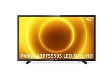 "Televisore TV Philips 43"" 43PFS5505 LED FULL HD USB HDMI DVB-T/T2/T2-HD/C/S/S2"