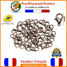 Lot Clasp Carabiner 16mm Coppery Lot Of 1,3, 10 Or 20 Jewelry Bracelet Necklace