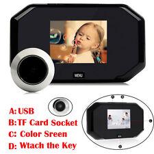"""3"""" LCD Digital Peephole Viewer 145° Door Eye Doorbell Video Security IR Camera"""