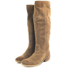 06c9b35e739 Bronx Womens EU 37 / US 7 TMRW Brown Leather Suede Pull On Boho Knee-