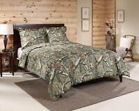 Camo Comforter Bedding Set Queen Mossy Oak Wood Tan Shams Bed in a Bag Bedroom