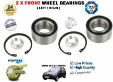 FOR BMW X3 + XDRIVE E83 SERIES 2004->NEW 2X FRONT LEFT RIGHT WHEEL BEARING KIT