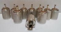 Lot of 10 UHF AMP-PL-59SS PL-259 SCREW ON RG8X,RG59 COAX CABLE END CONNECTORS