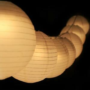 """12"""" Warm White Paper Lantern Remote Controlled LED Lights (10-PACK Combo Kit)"""