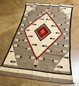 WONDERFUL! EARLY/MID 20THC NAVAJO INDIAN SOUTHWESTERN PICTORIAL RUG WEAVING
