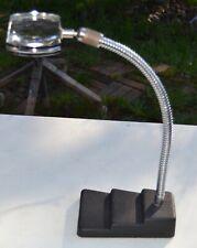 Vintage Donegan Optical Magnifying Glass Cast Iron Base Flex Goose Neck M-103D