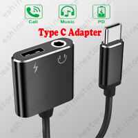 Type-C to 3.5mm Jack AUX Audio Headphone USBC Charging Adapter Splitter Cable US