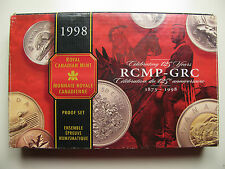 1998 Proof Set 125th Anniversary RCMP .925 Silver Canada