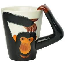 Cheeky Monkey / Chimp Handle Tea / Coffee Ceramic Mug Gift Cuppa Break Brew Hot