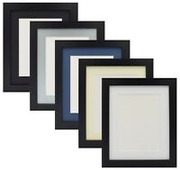 Black Photo Picture Frame Poster Frame With Mounts Various Size & Mounts Colours