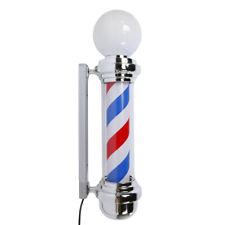 """Barber Shop Sign 32"""" M338D Rotating Barber Pole Light LED Light US Plug"""
