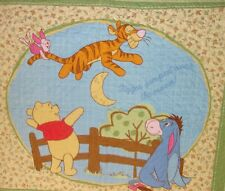 "Winnie Tigger Jumped Child Baby Quilt 34""x42"" Homemade Cotton Flannel Backing"