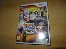 Nintendo Wii Pal  NARUTO SHIPPUDEN CLASH OF NINJA REVOLUTION III EUROPEAN