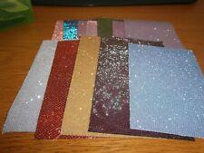 Job Lot Glitter Fabric Sheets Vinyl Crafts Assorted Sizes & Colours x 50 #C