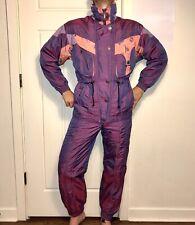 Iridescent Purple SPYDER Womens 6 SKI SUIT Coat Snow Bib Pants Set vtg SNOWSUIT
