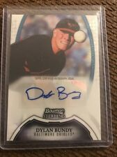 2011 Bowman Sterling Dylan Bundy Future Stats Autograph Card