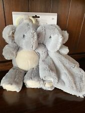 Kelly Baby 2 Pack Luxury Set Elephant Clip On and Security Blanket w/Rattles