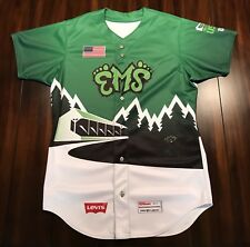 Rare MiLB Eugene Emeralds Tracktown USA Baseball Jersey Chicago Cubs Affiliate