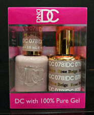 DND DC Soak Off Gel Polish Rose Beige 078 LED/UV 6oz 18ml Gel Duo Set NEW