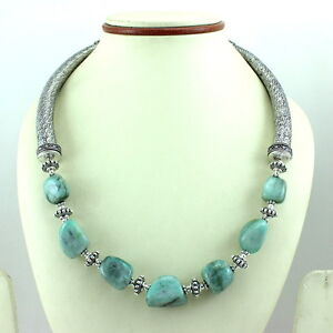 NECKLACE NATURAL EMERALD GEMSTONE BEADED HANDMADE FASHION JEWELRY