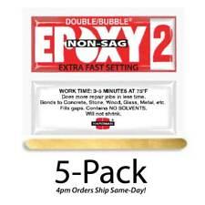 Hardman Double Bubble Red Non-Sag Epoxy2 Gel 3-5 Min-#04008 5-Pack