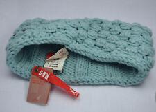 KANGOL bandeau pop-corn tricot côtelé réversible Unisexe Bleu Bonnet de ski
