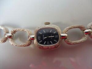 Edle  Armbanduhr , Porovita  Incabloc 17  , 925 Silber