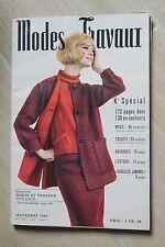 MODES ET TRAVAUX N°753 1963 mode fashion couture tricot pages poupées PATRON