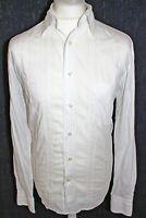 GANT Mens Pintuck Stripe Slim Fit White Long Sleeved Shirt Size XL