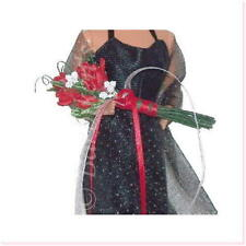 SIMPLY ROSES FLORAL ARM BOUQUET BARBIE SILKSTONE FR TRESSY FASHION DOLL RED NEW