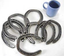 10 pc New Cast Iron Authentic Horseshoes for Crafting Size 2 Decor Barn Stable