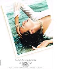 PUBLICITE ADVERTISING 2000 MIKIMOTO  les plus belles perles du mondes joaillier