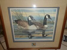 JOE GARCIA SIGNED & NUMBERED 1195/2000 DUCKS UNLIMITED PRINT FRAMED W/ PIN