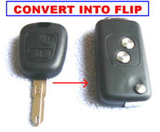 PEUGEOT Flip Key Fob CASE SHELL 106 206 307 UK libero