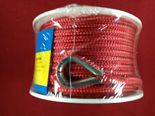 "ANCHOR LINE 3/8"" X 100' BRAIDED NYLON RED SEACHOICE 42171"